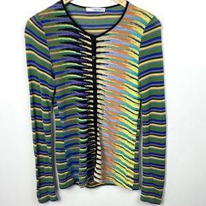 Aldomartins Striped Multicolour Cardigan Bamboo S